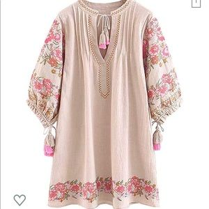 R. Vivimos Embroidered Dress sz. S
